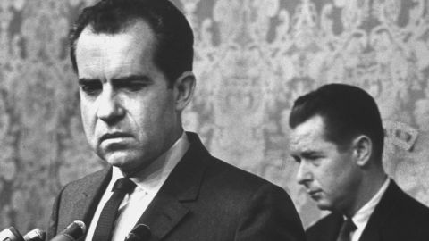 Richard M. Nixon conceding defeat at a press conference.  (Photo by Ralph Crane/The LIFE Picture Collection/Getty Images)