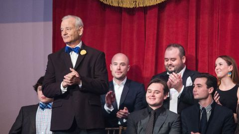 Actor Bill Murray arrives at his seat prior to the start of the 19th Annual Mark Twain Award for American Humor program at The Kennedy Center October 19, 2016 in Washington, DC.  / AFP / ZACH GIBSON        (Photo credit should read ZACH GIBSON/AFP/Getty Images)