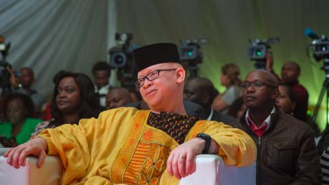 """MP Mwaura wants the world to understand that albinos are not """"mzungu"""" -- """"white people"""" -- but human beings."""