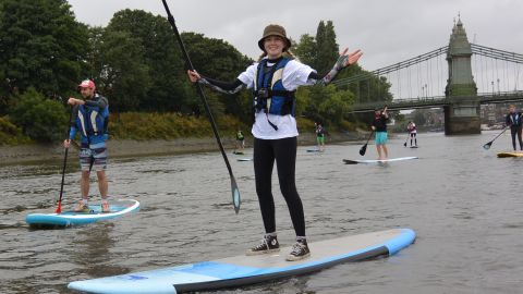 """UK paddle boarding company<a href=""""http://www.active360.co.uk/"""" target=""""_blank"""" target=""""_blank""""> Active360</a> says that visitors to London, particularly from the US and Canada, are increasingly choosing paddle boarding as a fun and different way to explore the city. The sport develops core abdominal muscles and balance."""