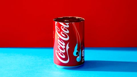 For a standard 12-ounce can of Coca-Cola, about four-fifths of the can equals 33 grams of sugar.