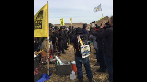 Protesters and law enforcement faced off on Thursday.