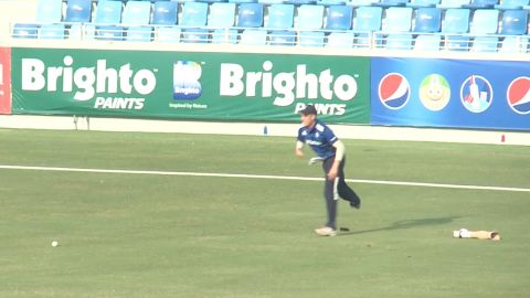 English cricketer Liam Thomas keeps playing, without his artificial leg.