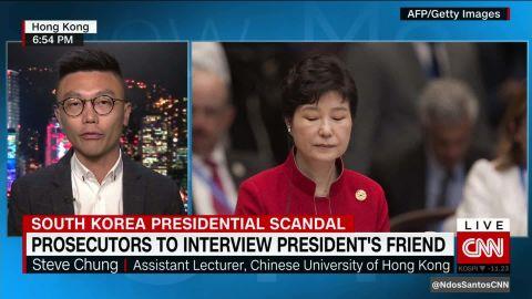 s korea president scandal unprecedented dos santos steve chung intv_00004409.jpg
