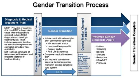 """From the Defense Department's implementation handbook, """"Transgender Service in the US Military."""""""