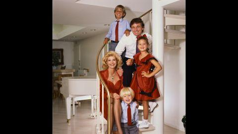 The Trump family, circa 1986.