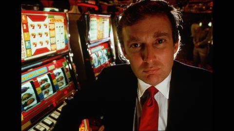 Trump attends the opening of his new Atlantic City casino, the Taj Mahal, in 1989.