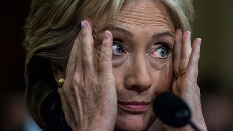 """Clinton testifies before the House Benghazi Committee on October 22, 2015. Clinton <a href=""""http://www.cnn.com/2015/10/22/politics/hillary-clinton-benghazi-hearing-updates/"""" target=""""_blank"""">mounted a passionate defense of her response to the attack,</a> which claimed the lives of four Americans in 2012. But she came under repeated criticism from Republicans who tried to prove she ignored pleas from U.S. diplomats for better security."""