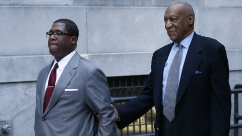 Comedian Bill Cosby left the Montgomery County courthouse after a pre-trial hearing in Norristown, Pennsylvania on November 1, 2016.