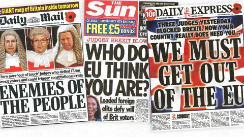 Some UK national tabloid newspapers were highly critical of this week's High Court ruling.