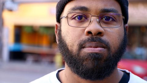 """Jesse Maybin of Asheville is undecided but knows that he is not voting for Donald Trump. He says """"The African-American vote is as important as it always is."""""""