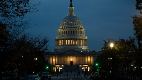 WASHINGTON, DC - NOVEMBER 08: The Capitol Building is pictured on November 8, 2016 in Washington, DC. Americans today will choose between Republican presidential candidate Donald Trump and Democratic presidential candidate Hillary Clinton as they go to the polls to vote for the next president of the United States. (Photo by Zach Gibson/Getty Images)