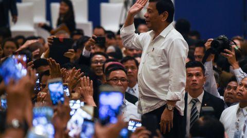 Philippine's President Rodrigo Duterte in Malaysia on November 9, 2016.