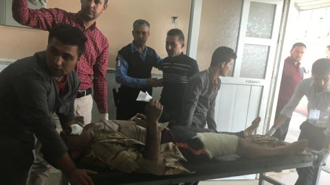 Another wounded man is tended at al Shikan hospital near Mosul.