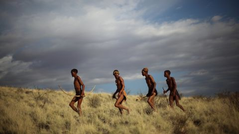 """The San of South Africa, Botswana, Angola and Namibia are, according to some researchers, <a href=""""http://edition.cnn.com/2016/05/24/travel/basarwa-botswana-culture-crisis/"""">the world's oldest people</a>. Their hunter-gatherer culture stretches back tens of thousands of years, and integral to it is the trance dance, also known as the healing dance. Historically an all-night affair, the practice brings the whole community together, led by healers and elders dancing around a fire, chanting and breathing deeply until they induce a trance state. It offers the chance to commune with ancestral spirits of the departed and for healers, cure sickness within other dancers.   <br /><br />Lewis says that this tradition is under threat: """"In some places in southern Africa the San now perform their traditional culture exclusively for tourists, because they've been forced out of all their territories as hunter-gatherers by conservationist organizations. This means that by extension... these performances are not the original initiations but a facsimile of them."""""""