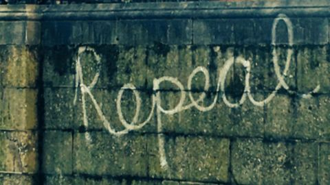 The couple posted a picture of graffiti in support of repealing the 8th amendment -- the foundation for Ireland's abortion laws -- before traveling to the UK.