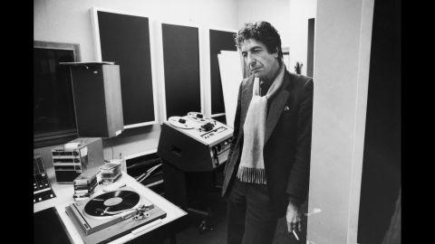 Cohen in a recording studio, circa 1979.