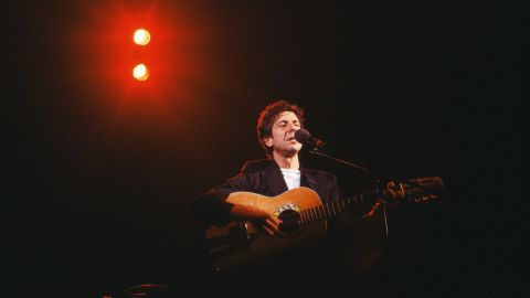 Cohen performs live at Hammersmith Odeon in London in February 1979.
