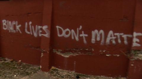 Anti-black lives matter graffiti went up by a local Durham, NC restaurant.