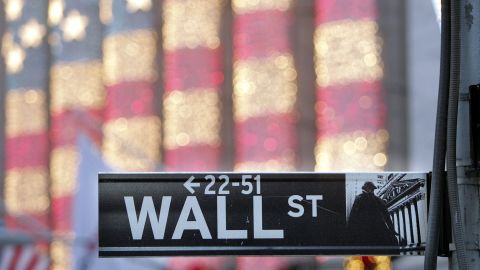 NEW YORK - DECEMBER 21:  A Wall Street sign is seen in front of the New York Stock Exchange December 21, 2006 in New York City. Wall Street's top financial firms' soaring profits this year have pushed bonuses for Wall Street executives to a record $23.9 billion, a 17% leap from last year's bonus pool of $20.5 billion. Four of the top five brokerage houses posted record earnings this year, led by Goldman Sachs, whose income jumped 68% over 2005.  (Photo by Mario Tama/Getty Images)