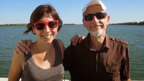 Publisher and roller derby fanatic Lola Salines with her father, Georges, the summer before her death.