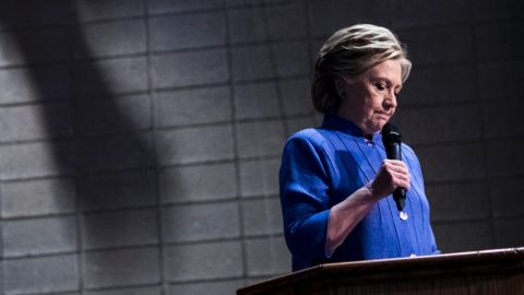 MIAMI, FL - Democratic Nominee for President of the United States former Secretary of State Hillary Clinton speaks to Florida voters at a Baptist Church in Miami, Florida Sunday October 30, 2016. (Photo by Melina Mara/The Washington Post via Getty Images)
