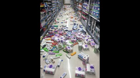 Residents around the epicenter reported shaking for minutes that sent grocery items flying from shelves.