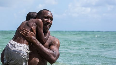 """Mahershala Ali, right, and Alex R. Hibbert in the acclaimed film """"Moonlight."""""""