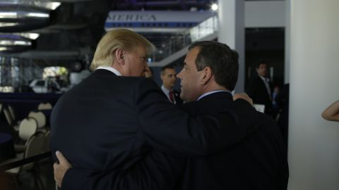 Donald Trump and Chris Christie entering the hall for the CNN Republican Presidential Debate at the Ronald Reagan Library in Simi Valley, CA. 200150916. Photos by Callie Shell.