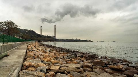 """Photo: Long Yat Chau, Hong Kong: """"Air pollution, particularly in the form of waste gas from generating stations, is a serious problem in Hong Kong."""""""