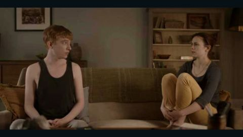 """In an episode of the TV show """"Black Mirror,"""" Domhnall Gleeson and Hayley Atwell play a young couple, Ash and Martha. When Ash is killed in a car crash, Martha learns that she can keep in touch with him via an online service that eventually leads to the creation of an android resembling him."""