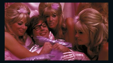 """The Fembots (Cheryl Bartel, Cynthia LaMontagne and Cindy Margolis, with Mike Myers) are designed to seduce and destroy In the film """"Austin Powers: International Man of Mystery."""""""