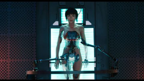 """Major Motoko Kusanagi (Scarlett Johansson) is a cyborg policewoman in """"Ghost in the Shell,"""" coming to theaters in March. The live-action film is based on a Japanese manga series and media franchise. In the series, Major wears provocative outfits, has a flirty personality and has relationships with both men and women, all in an attempt to better understand humanity."""