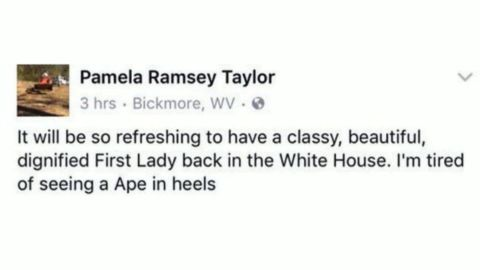 A screengrab of a Facebook post purportedly from county employee Pamela Taylor.