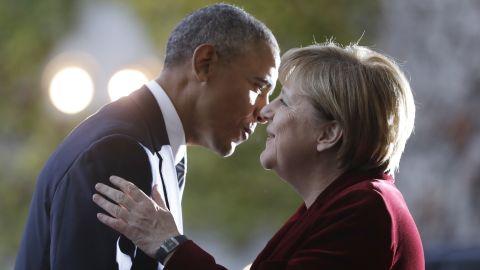Merkel welcomes President Barack Obama to Berlin last week.