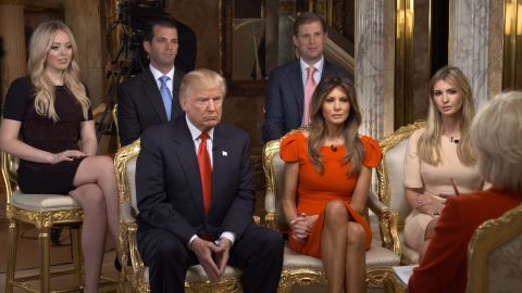 """""""60 Minutes"""" correspondent Lesley Stahl <a href=""""http://www.cnn.com/2016/11/13/politics/donald-trump-60-minutes-first-interview/"""" target=""""_blank"""">interviews Trump and his family</a> at his New York home on Friday, November 11. It was Trump's first television interview since the election."""