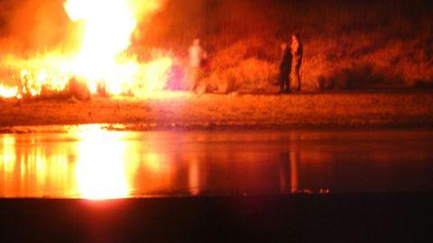 Dakota Access Pipeline protest standoff escalated Sunday evening.