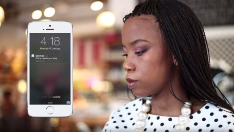 """<a href=""""https://www.bespecular.com/"""" target=""""_blank"""" target=""""_blank"""">BeSpecular</a>, an app from South Africa, allows volunteers to remotely assist blind people. The app uses an algorithm to connect the right people, those similar in age and physical location. <br /><br /><a href=""""http://edition.cnn.com/2016/11/24/africa/be-specular-app-helps-the-blind/index.html"""">Read more</a> about this app<a href=""""http://edition.cnn.com/2016/11/24/africa/be-specular-app-helps-the-blind/index.html"""">. </a>"""
