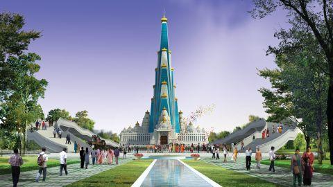 Vrindavan Chandrodaya Mandir in Uttar Pradesh, India will be 700 feet tall.
