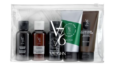 """Celebrate the Well-Groomed man in your life with V76 by Vaughn must-have travel classics. <a href=""""http://www.v76.com/well-groomed-travel-kit.html"""" target=""""_blank"""" target=""""_blank"""">$37, click here to shop. </a>"""