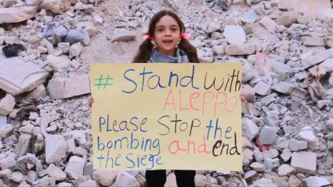 Bana and her mother tweet from rebel-held eastern Aleppo.