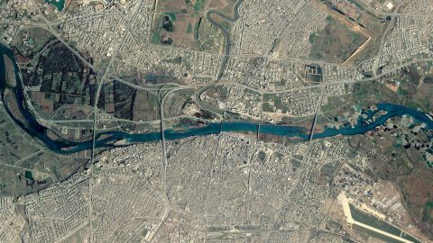 ISIS destroyed the five bridges linking east and west Mosul in January. (Photo taken before operation)