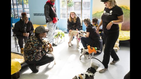 Franklin says that a lot of the adopters that Muttville works with adopt dogs over and over again.