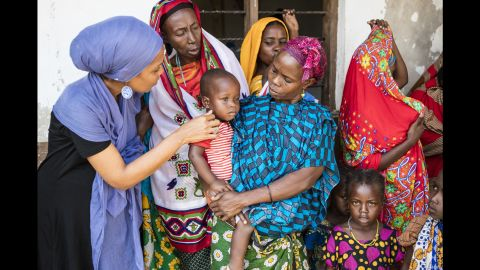 Omar, who has small children of her own, helps provide pediatric care as well as adult medicine for rural villagers.