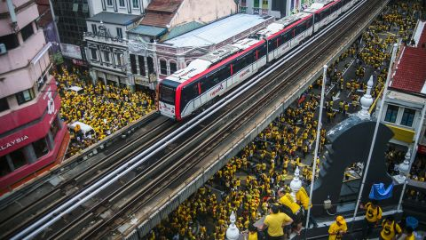 Tens of thousands rallied against Malaysia's government this month.