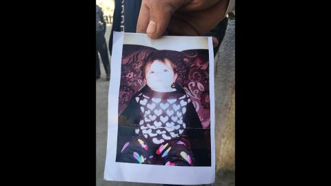 18-month-old Amira Ali was killed Wednesday when an ISIS mortar round landed near her home in a liberated area of eastern Mosul.