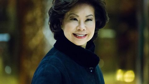 Former US Secretary of Labor Elaine Chao arrives at Trump Tower on another day of meetings scheduled with President-elect Donald Trump on November 21, 2016 in New York. / AFP / Eduardo Munoz Alvarez