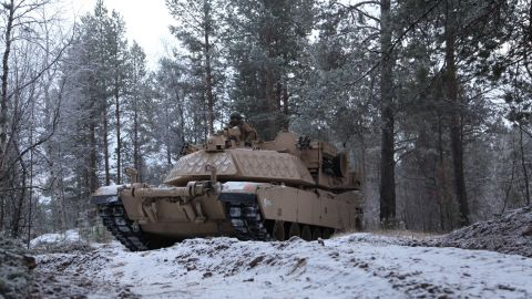 US troops take Abrams tanks further north than they've ever been before.