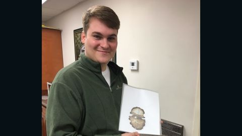 Isaac McCord said he's going to frame the burned page from the book of  Joel.
