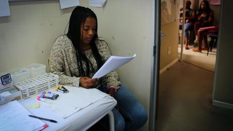 Azola Dayeni wants to become a nurse. She hopes the PrEP study will keep her safe.